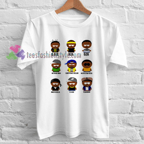 Wu Tang Clan Characters T-shirt gift