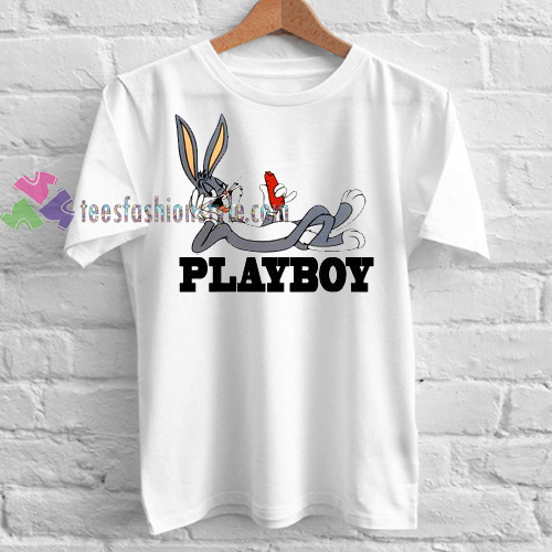 cee51e6e playboy bugs bunny Tshirt gift adult unisex custom clothing Size S-3XL