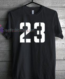 twenty three 23 font Tshirt gift