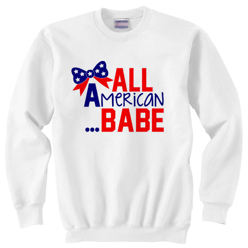 All American Babe independence day sweater gift sweatshirt