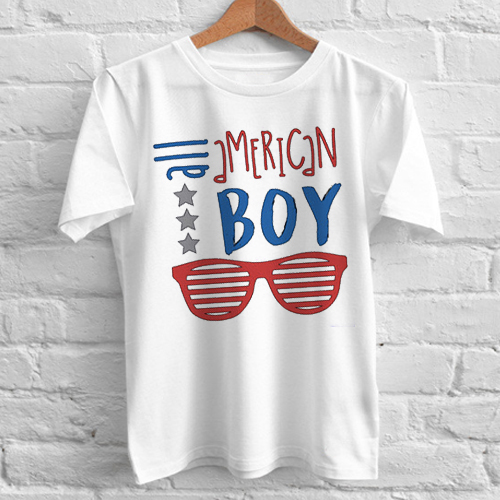 All american boy independence day tshirt gift adult unisex for American apparel custom t shirts