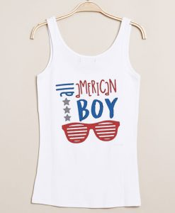 All American Boy independence day tanktop gift
