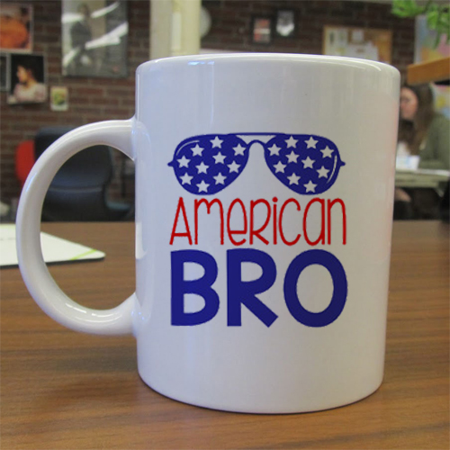 American Bro independence day mug gift