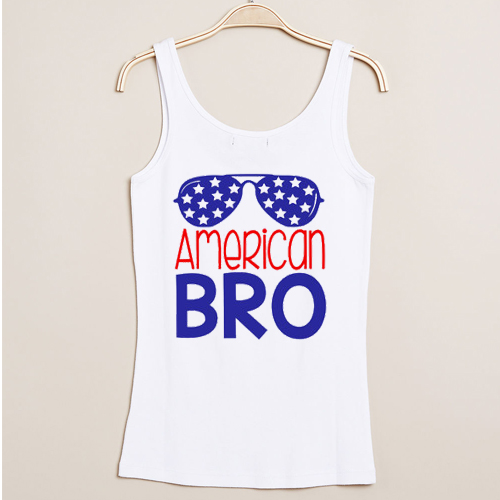 American Bro independence day tank top