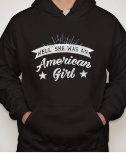 American girl independence day hoodie gift