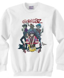 Gorillaz Alertnative Pop Punk Rock sweater gift