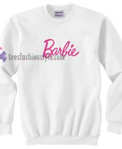 barbie font sweater gift