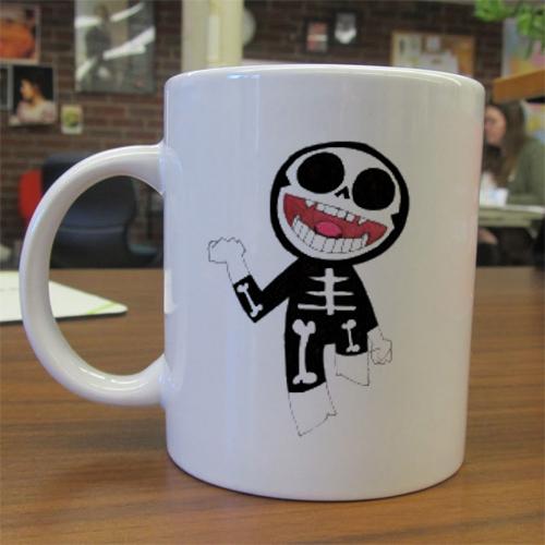 Gorillaz Skeleton mug gift