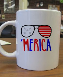 Independence Day Merica mug gift