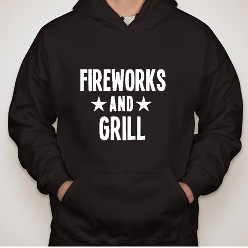 Independence Day fireworks and girl hoodie gift
