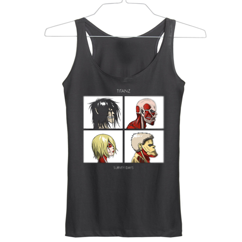 Titanz Survey Days Anime SNK Gorillaz tanktop gift