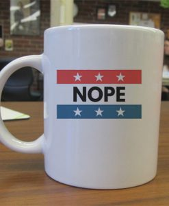 USA Nope Baseball independence day mug gift