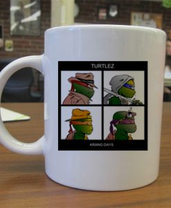 gorillaz turtles krang days mug gift