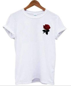 red rose flower tee Tshirt gift