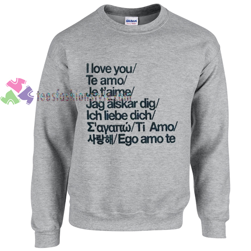 I love you sweater gift
