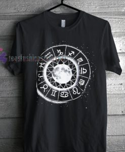 Moon and Horoscope Zodiac Tshirt gift