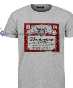Budweiser lager beer label Tshirt gift