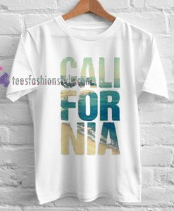 California unisex Tshirt gift cool tee shirts