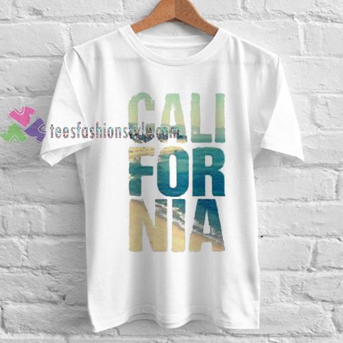 California unisex Tshirt gift cool tee shirts