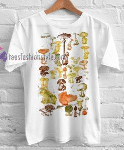 Mushrooms Of the World Tshirt gift cool tee shirts