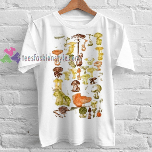 Mushrooms Of the World Tshirt gift cool tee shirts