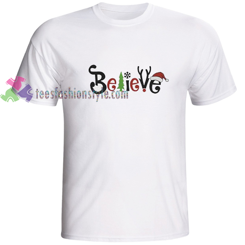 believe in santa christmas t shirt gift tees cool tee shirts