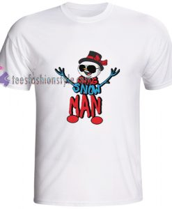 Christmas Snowman Swag look on t shirt gift tees cool tee shirts