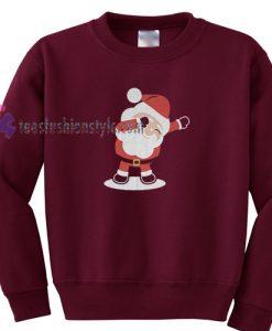 Dabbing Santa Funny Christmas Sweatshirt Gift sweater cool tee shirts