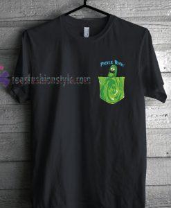 Pickle Rick Portal Pocket Men's Rick & Morty T Shirt gift