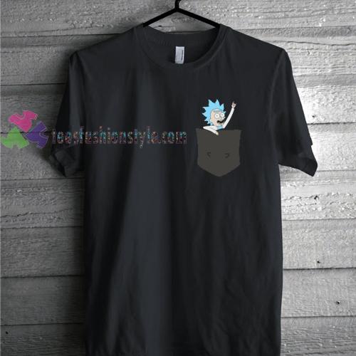 Pocket Tiny Rick Mens Rick & Morty Comedy T shirt gift