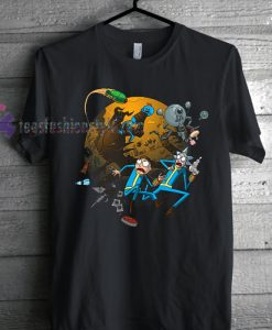 Rick & Morty Gaming Themed Geek Nerd Fan T Shirt gift