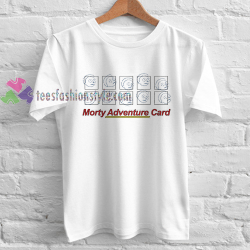 Morty Adventure Card T Shirt gift tees cool tee shirts