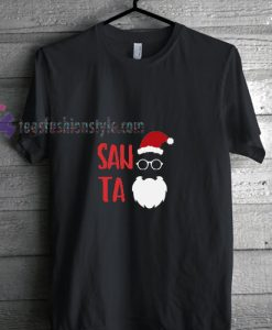 Santa Wear Glasses Christmas T Shirt gift tees cool tee shirts