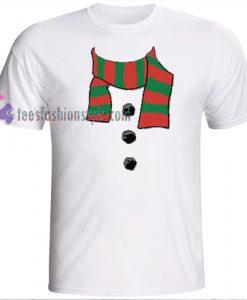 Snowman Scarf t shirt Chrismast t shirt gift tees cool tee shirts