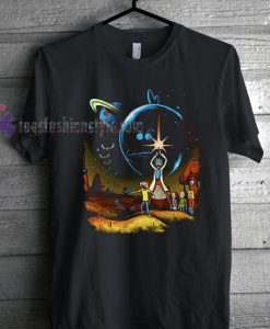 Star Wars Rick & Morty Space Adventure T Shirt gift