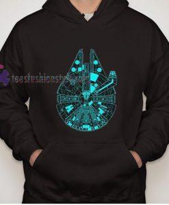 Star Wars The Last Jedi Millenium Falcon Hoodie gift cool tee shirts