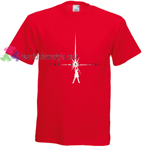Star Wars The Last Jedi red t shirt gift tees cool tee shirts