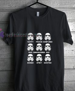 Stormtrooper Emotions t shirt gift tees cool tee shirts