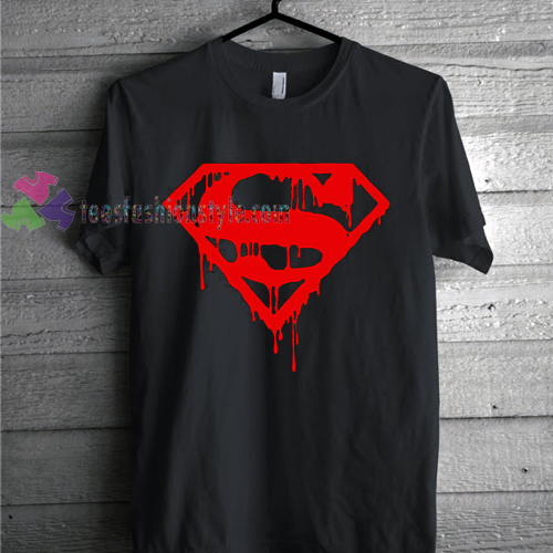 Superman Red Drip Men's Muscle Bodybuilding Gym T-Shirt gift
