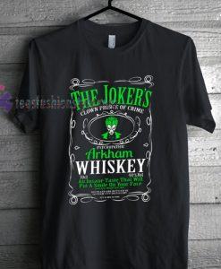 The Joker Arkham Whiskey Superhero T shirt gift