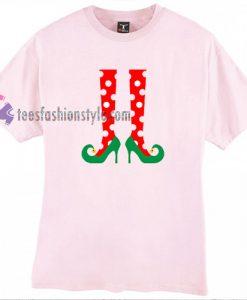 Elf Polca Stocking Christmas T Shirt gift tees cool tee shirts