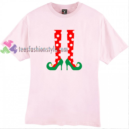 Elf Polca Stocking Christmas T Shirt gift tees cool tee shirts