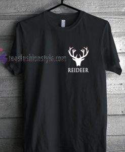 Reideer Simple Christmas T Shirt gift tees cool tee shirts