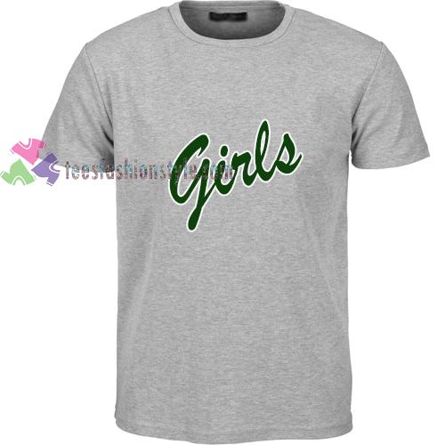 Girls green simple t shirt