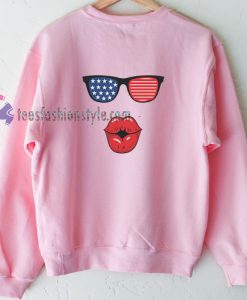 Kisses American Flag Sweatshirt