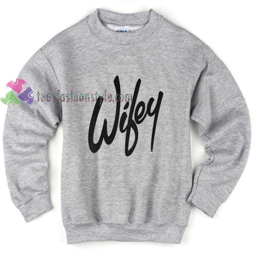 Wifey Grey Sweatshirt