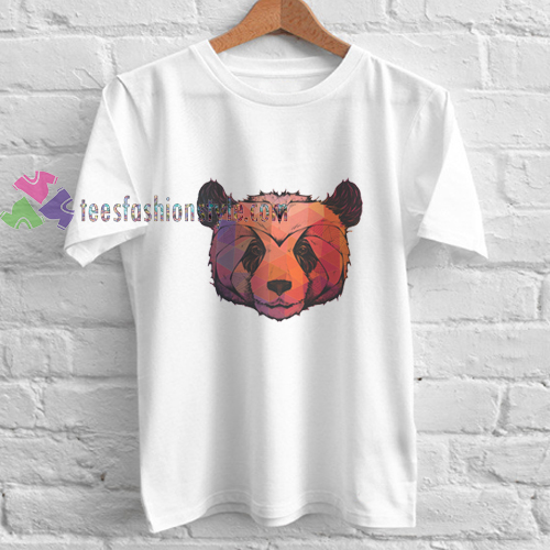 abstract panda t shirt