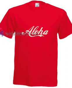 aloha simple t shirt gift tees unisex adult cool tee shirts