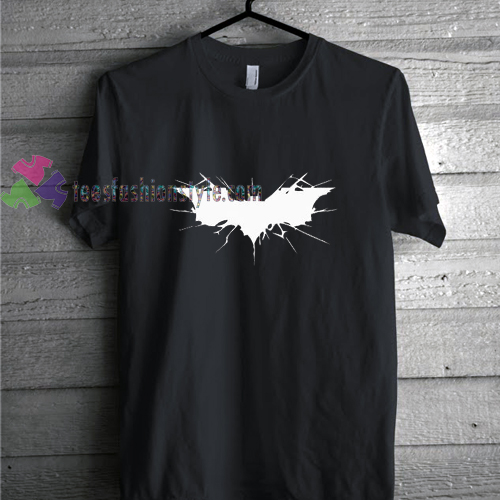 batman white logo shirt