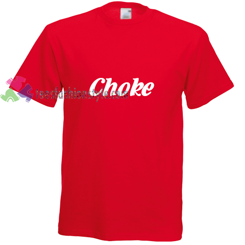 choke red simple t shirt